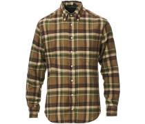 Buttondown Country Plaid Hemd Brown/Green