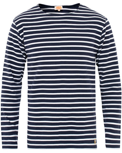 Houat Héritage Stripe Longsleeve T-shirt Navy/White