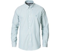 Regent Fit Non Iron Oxfordhemd Green Stripe