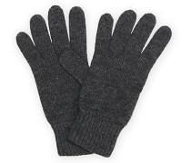 Stricked Cashmere Handschuhe Dark Granite