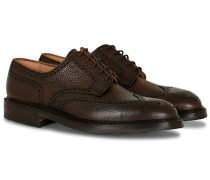 Pembroke Derby Dark Brown Grained Calf