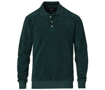 Longsleeve Terry Polo Petrol Green