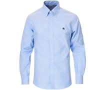 Regent Fit Buttondown Sport Hemd Light Blue