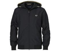Hooded Brentham Jacke Black