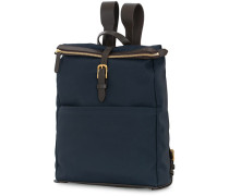 M/S Express Nylon Rucksack Navy/Dark Brown