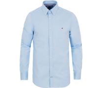 Slim Fit Stretch Popelinehemd Light Blue