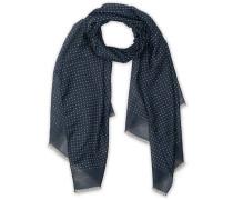 Silk Woll Polka Dot Halstuch / Schal Blue