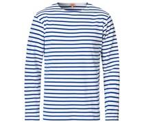 Houat Héritage Stripe Longsleeve T-shirt White/Blue