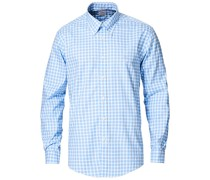 Regent Fit Non Iron Oxfordhemd Blue Check