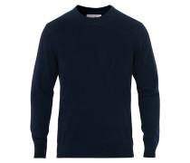 Ted Extra Fine Merino Rundhalspullover Navy Blue