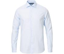Soft Giro Inglese Baumwollhemd Light Blue