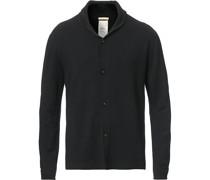 Soft Brushed Woll Cardigan Washed Black