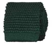 Stricked Silk Krawatte 6 cm Green
