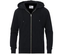 Classic Organic Full Zip Hood Deep Black