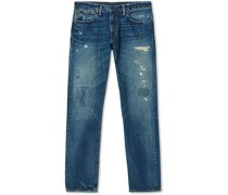 Low Straight 5-Pocket Japanese Jeans Railey Wash