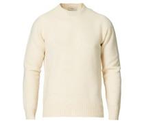 Woll/Cashmere Cew Neck Pullover Latte