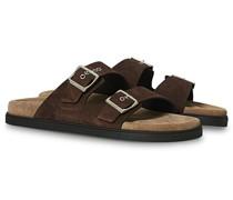 Sandale Dark Brown Suede