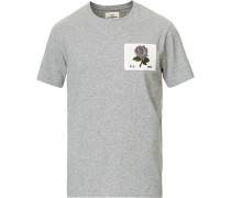 Rose Embroidered Tshirt Grey