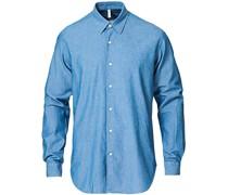 Dan Chambray Hemd Blue