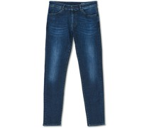 Slim Fit Stretch Jeans Washed Blue