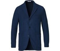 Unconstructed Stricked Jersey Blazer Dark Blue