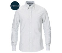 Slimline Oxfordhemd Green/White