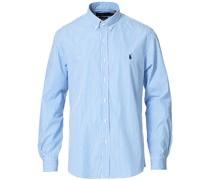 Slim Fit Poplin Striped Buttondownhemd Blue/White
