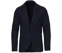 Two Button Vented Superfine Merino Blazer Navy Blu