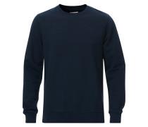 Classic Organic Rundhalspullover Navy Blue
