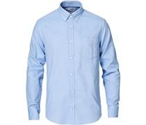 Levon Oxford/Cashmere Hemd Light Blue
