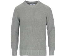 Knut Baumwoll Rundhals Strickpullover Medium Grey