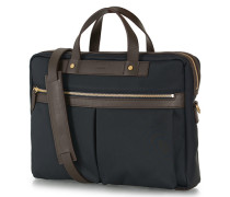 M/S Nylon Office Navy/Dark Brown