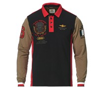 Long Sleve Logo Polo Military/Black/Red