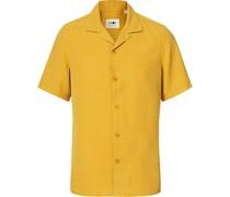 Miyagi Tencel/LeinenKurzarm Hemd Yellow