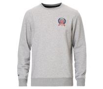 Crest Logo Sweatshirt Grey Melange