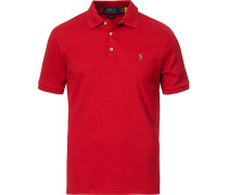 Slim Fit Luxury Pima Baumwoll Polo Avenue Red