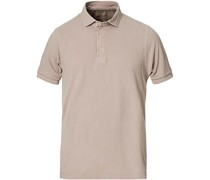 Washed Polo Mud Brown