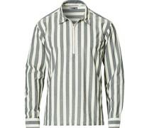 Archie Überhemd Half Hemd mit Reißverschluss Multi Stripe