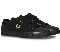 Hughes Low Canvas Sneaker Black/Gold
