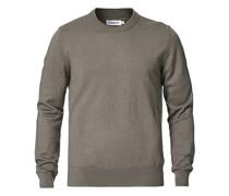 Baumwoll Merino Basic Pullover Green Grey