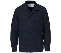 Robbie Leinen Überhemd Navy