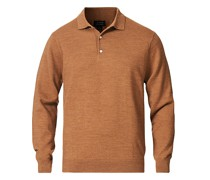 Merino Polo Heather Caramel