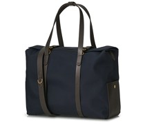 M/S Canvas Mega Tasche Navy/Dark Brown