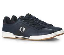Bonded Sneaker aus Leder Navy
