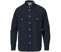 Villads Micro Texture Überhemd Dark Navy