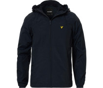 Zip Through Jacke mit Kapuze Dark Navy