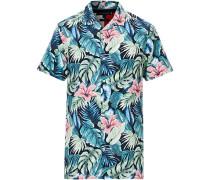 Hawaiian Printed Kurzarm Hemd Green Bay
