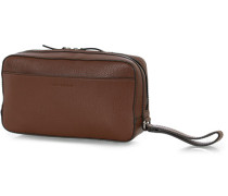 Wes Grained Leder Toiled Tasche Brown