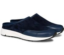 Maggiore Slip In Sneaker Navy Suede