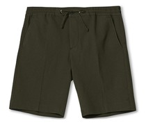 Sebastian Seersucker Drawstring Shorts Army Green